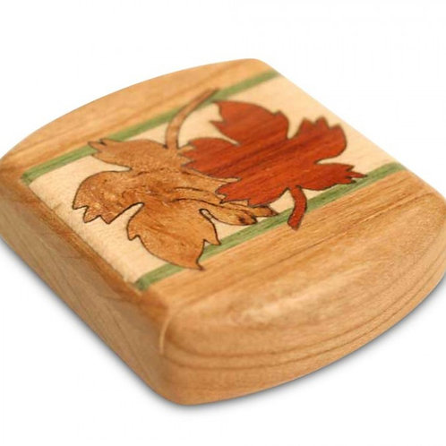 Maple Leaves Marquetry Secret Box by Heartwood Creations