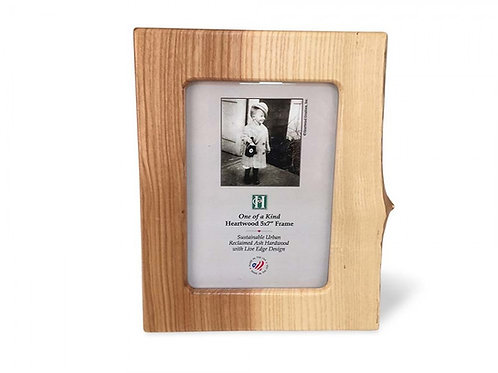 Ash Live Edge Photo Frame by Heartwood Creations