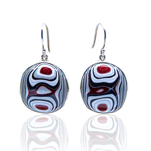 Fordite Earrings by Starborn Creations