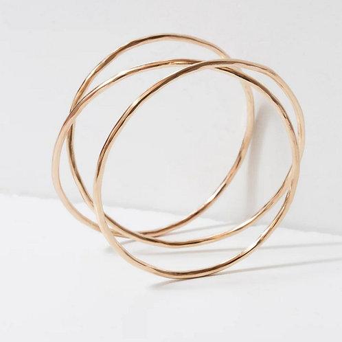 Large Gold Slinky Bracelet by Zuzko