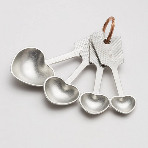 Heart Measuring Spoons by Beehive Handmade