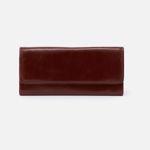 Ardor Honey Leather Wallet in Chocolate by HOBO