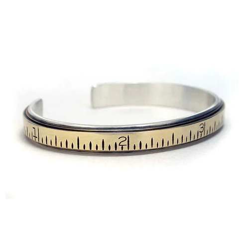 Extension Ruler Cuff Bracelet by Connie Verrusio