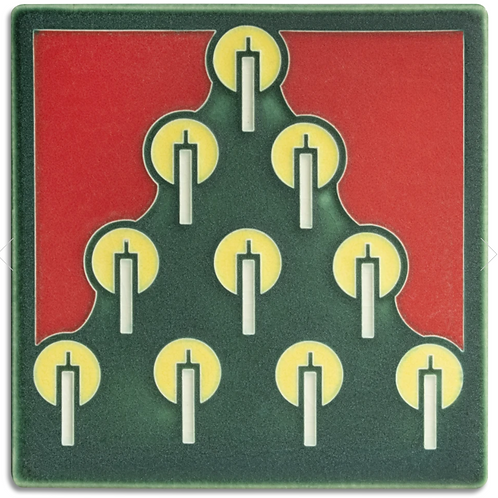 6x6 Tannenbaum Tile in Green by Motawi Tileworks