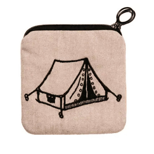 Embroidered Tent Zippee Coin Pouch by Living Goods