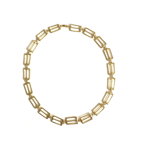 """18"""" Brass Column Necklace by Goldeluxe Jewelry"""