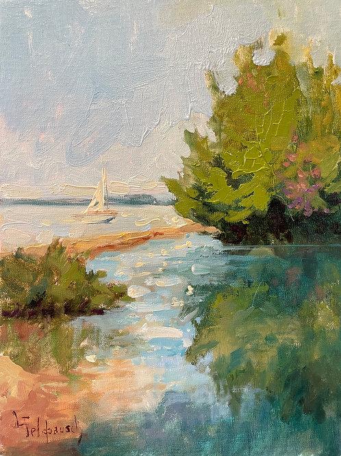 'Elk Rapids Outlet' by Lori Feldpausch