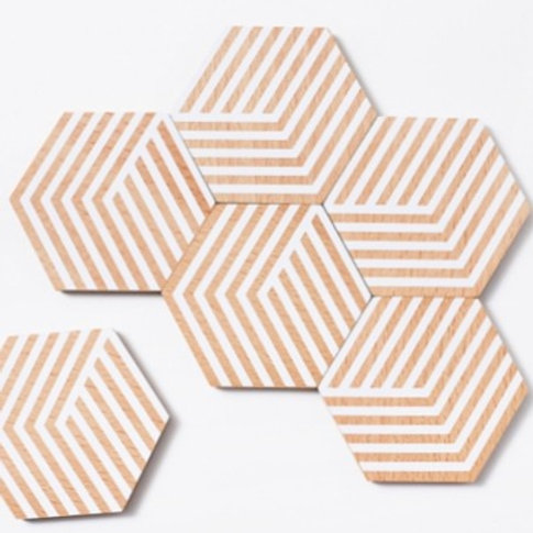 Optic Table Tiles by Areaware