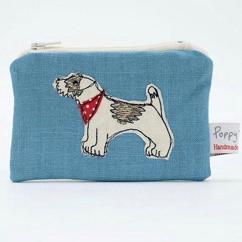 Embroidered Small Dog Useful Purse by Poppy Treffry
