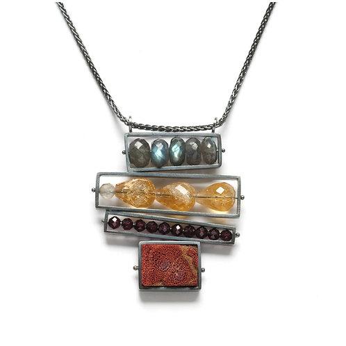 Quad Frame Necklace by Ashka Dymel