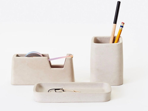 Three-Piece Concrete Desk Set by Areaware