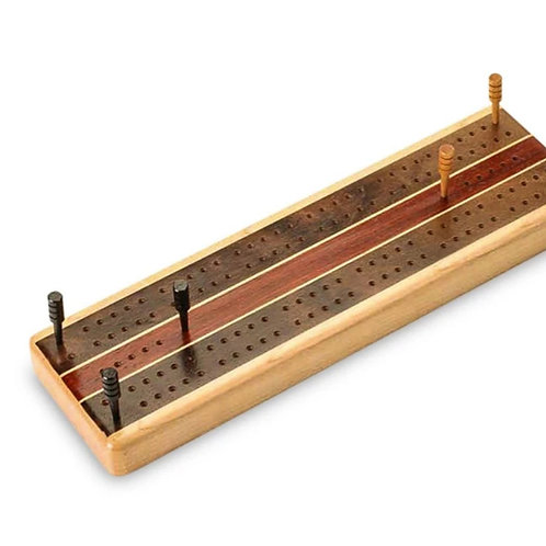 Maple Inlay Cribbage Board by Heartwood Creations