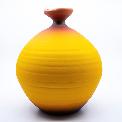 Large Yellow Pot by Tom Krueger