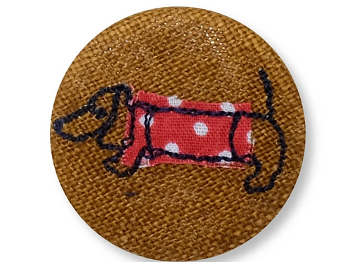Dachshund Badge by Poppy Treffrey