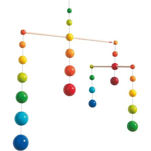 Wooden Rainbow Balls Mobile by Haba