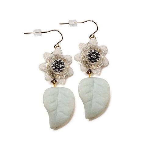 Velvet Petal Drop Earrings by Elements Jill Schwartz