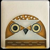 3x3 Owl Tile by Charley Harper for Motawi Tilesworks