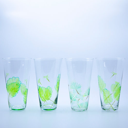 Fern and Frond Drinking Glasses
