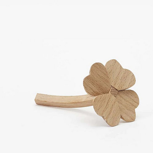 Wooden Clover Charm by Areaware
