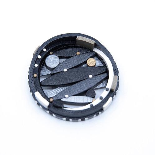 Round Polymer Clay Brooch/ Pendant by Ardel Bardol