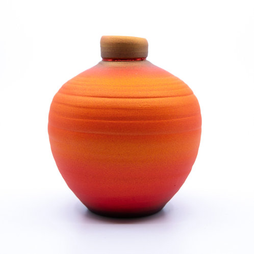 Small Orange Pot by Tom Krueger