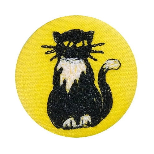 Cat Badge by Poppy Treffrey