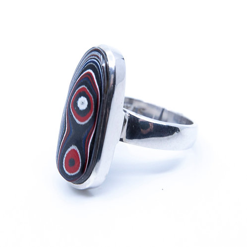 Fordite Ring by Starborn Creations