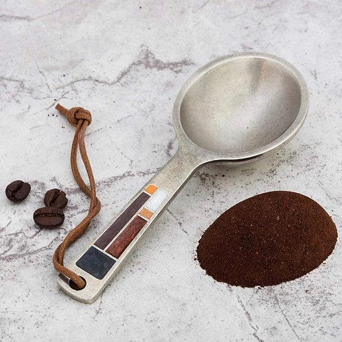 Riversong/Mocha Coffee Scoop by DanForth Pewter