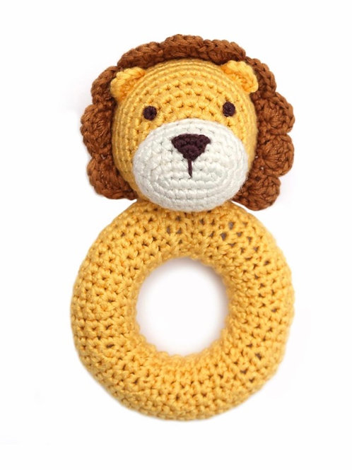 Lion Crocheted Ring Rattle by Cheengoo