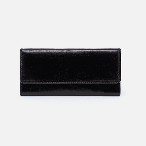 Ardor Honey Leather Wallet in Black by HOBO
