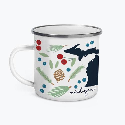 Michigan Enamel Camp Mug by Tandem for Two