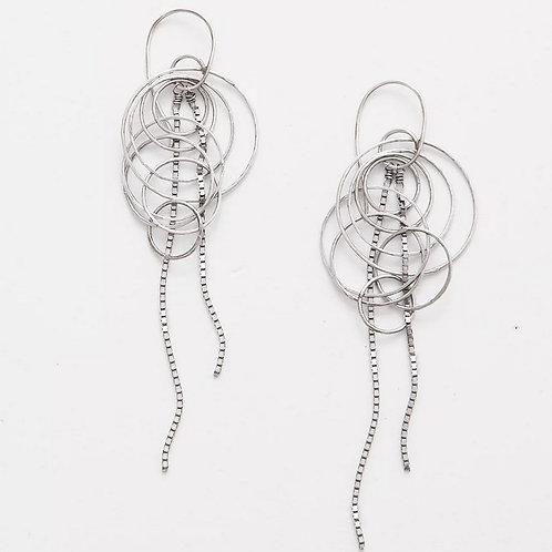 Silver Jelly Fish Earrings by Zuzko