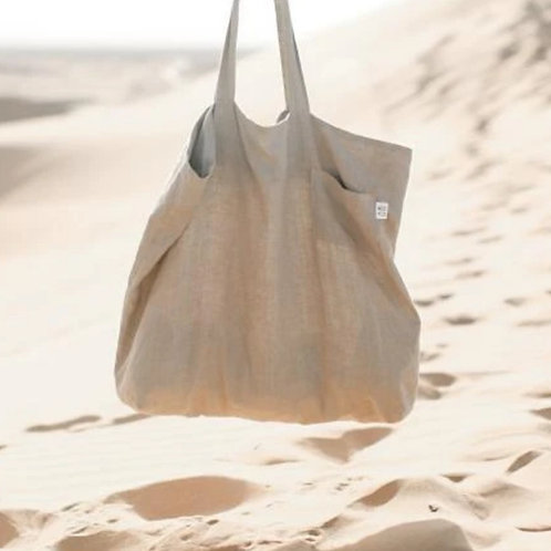 Linen Market Tote by Madly Wish