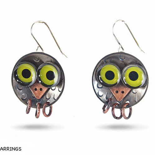 Owlet Earrings by Chickenscratch