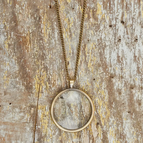 Bronze Monocle Necklace by Altiplano