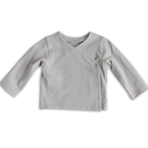 Essential Wrap Cardigan in Dove Grey by Pehr