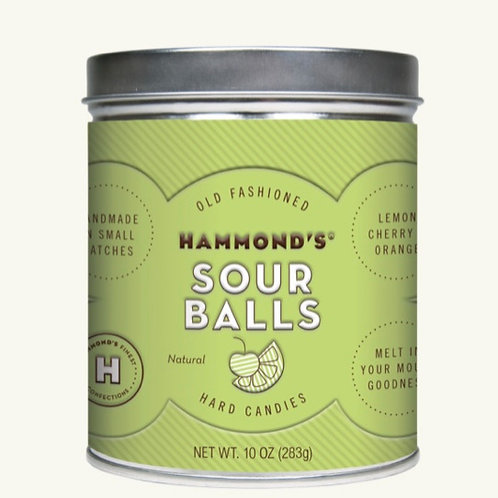 Natural Sour Ball Drops by Hammond's Candies
