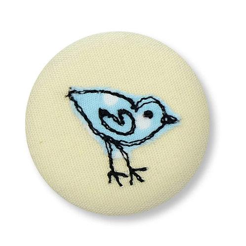 Little Bird Badge by Poppy Treffrey