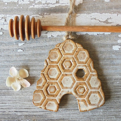 Beehive Christmas Ornament by B. Robertson