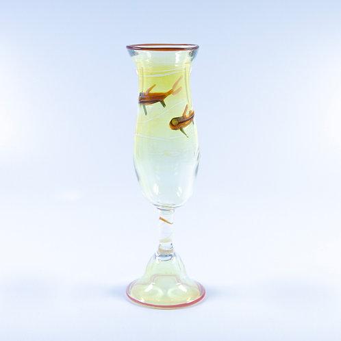 Blown Glass Fish Flute by OT Glass
