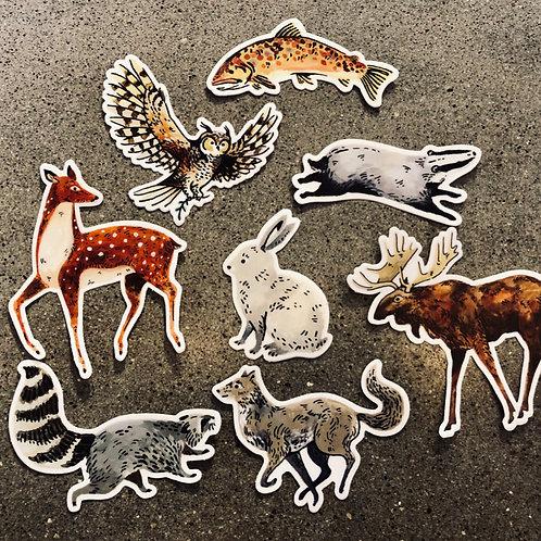 Wildlife Stickers by Wildship Studio