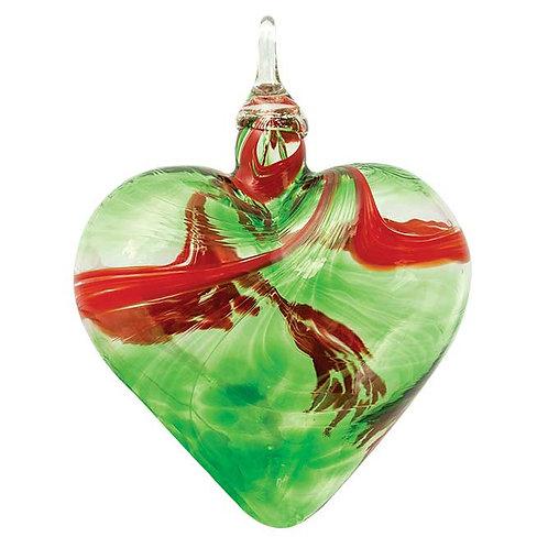 Mistletoe Heart Ornament by Glass Eye Studio