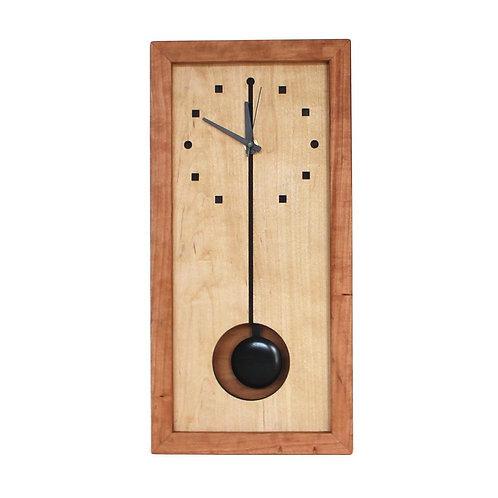 Squares and Circles Tall Box Clock by Sabbath Day Woods