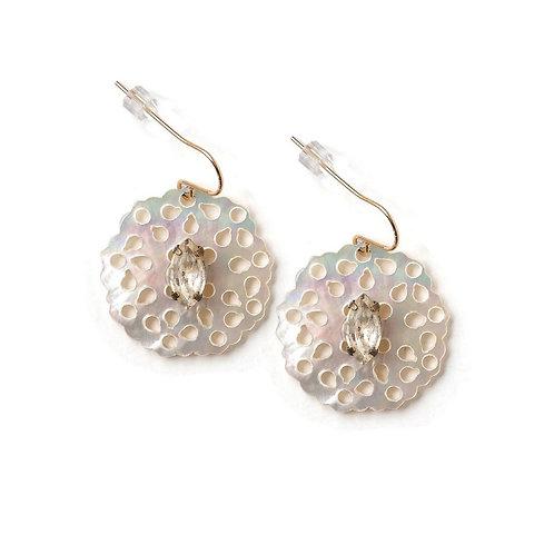 Lacey Mother of Pearl Earrings by Elements Jill Schwartz