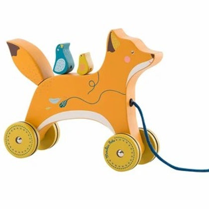 Pull Along Fox Toy by Moulin Roty