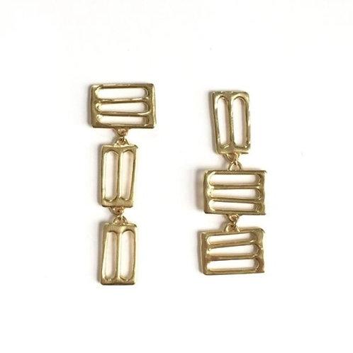 asymmetrical Petra Earrings by Goldeluxe Jewelry