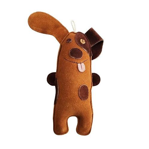 Silly Puppy Leather Dog Toy by Jojo Modern Pets