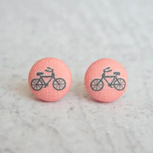 Bike Post Earrings by Rachel O