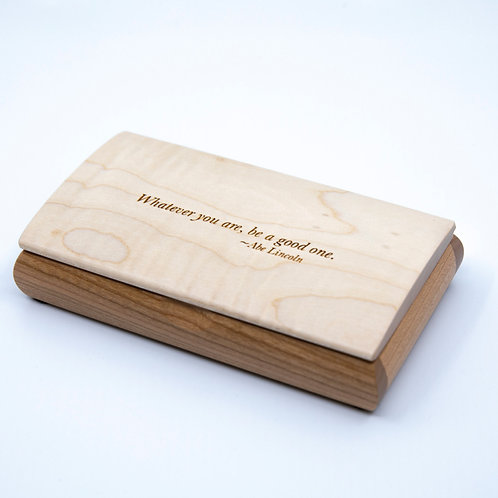 Abe Lincoln Quote Box by Mikutowski Woodworking