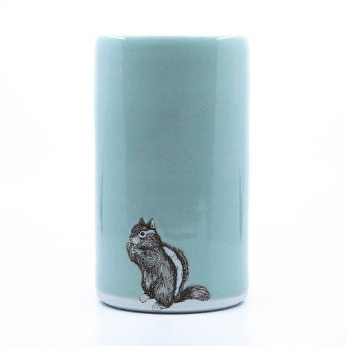 Narrow Chipmunk Vase by SKT